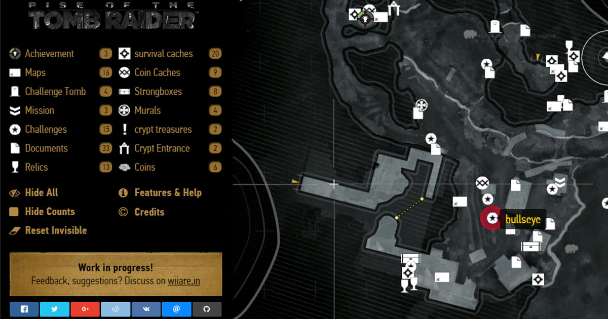 Soviet Installation Rise Of The Tomb Raider Interactive Map With All Collectibles